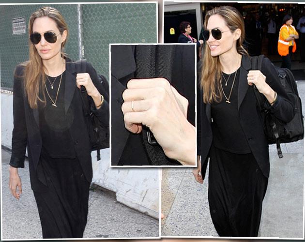 Angelina Jolie Ist das ein Ehering
