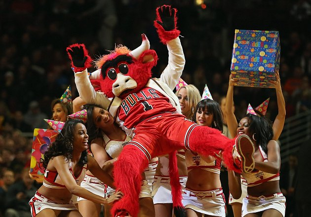 Benny the Bull is the most popular mascot in America says Forbes