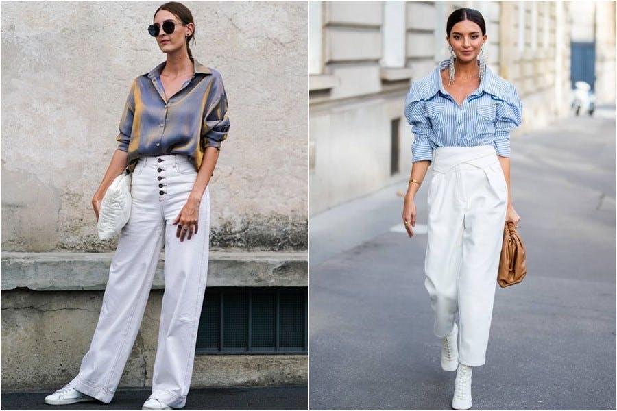 夏天怎能不來一條?白色寬褲4種搭配,亮出一道時髦白月光 穿搭推薦 - Yahoo奇摩時尚美妝
