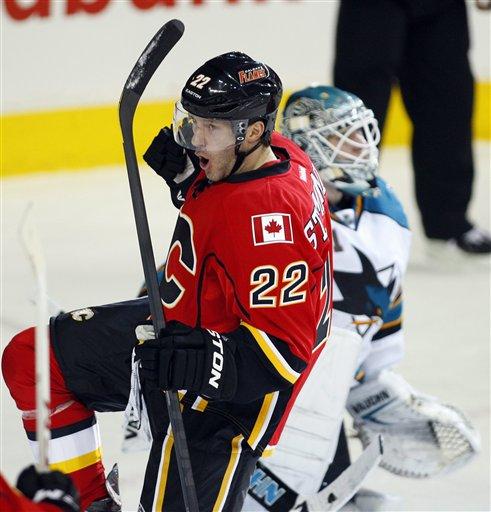 Flames score on Sharks