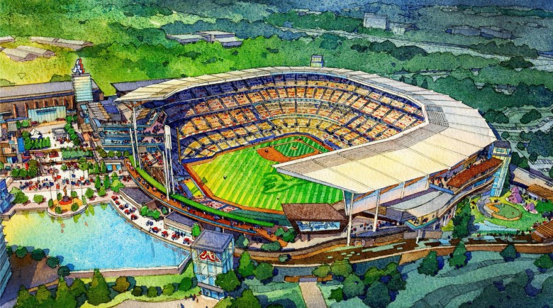 Atlanta Braves release designs for new stadium to open in 2017