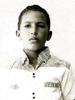 Una foto familiar en Barinas, Venezuela, cuando Chávez era un niño (AP)