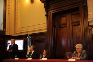 Parte de la Corte, con su presidente, Ricardo Lorenzetti (Télam)