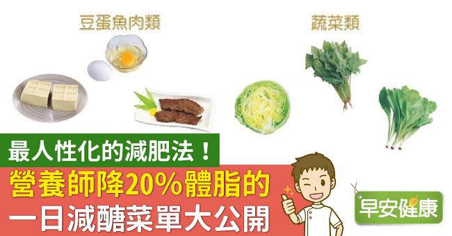 最人性化的減肥法!營養師降20%體脂的一日減醣菜單大公開