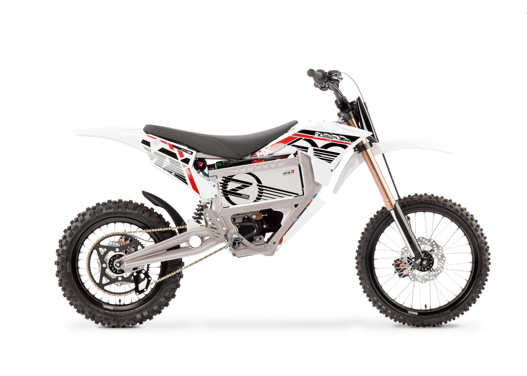 Zero Mx Electric Motorcycle Right Profile White