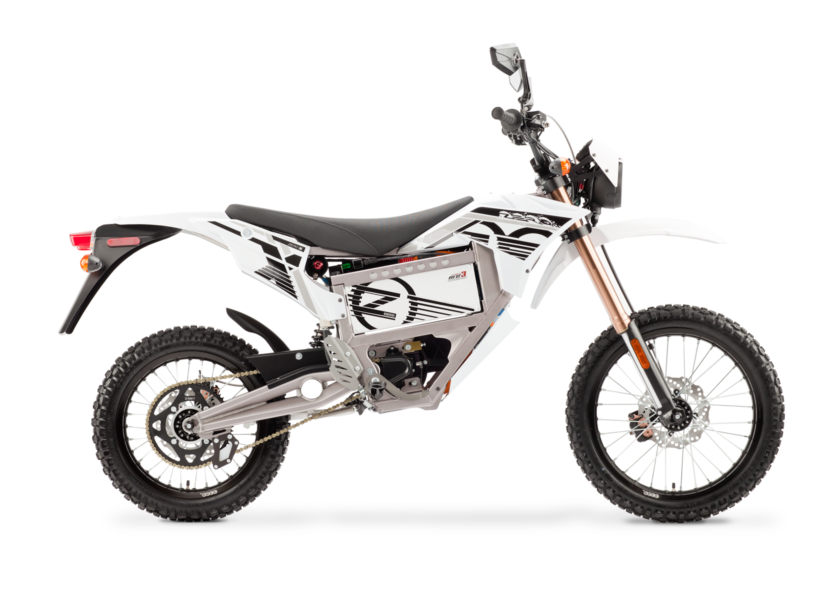 2012 Zero X Electric Motorcycle: Profile Right, White