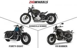 Triumph Bonneville Bobber vs Harley-Davidson Forty-Eight