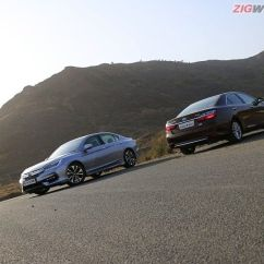 All New Camry Vs Accord Grill Chrome Grand Avanza Honda Toyota Hybrid Comparison Review Zigwheels Comparo