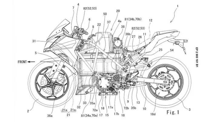 Kawasaki Ninja 300 Electric Bike Patent Images Leaked