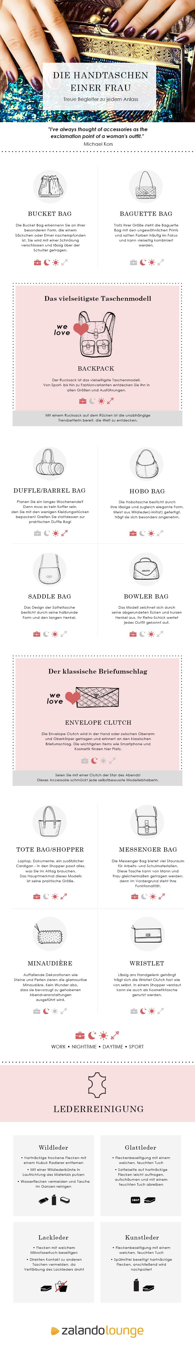 infographic DE Die Tasche einer Frau Eine Liebesgeschichte