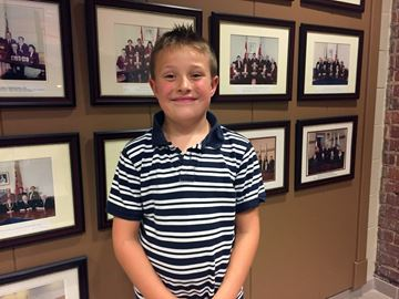 Connor Dagenais, 7, has asked council to change their bylaw to permit backyard chickens within the town.