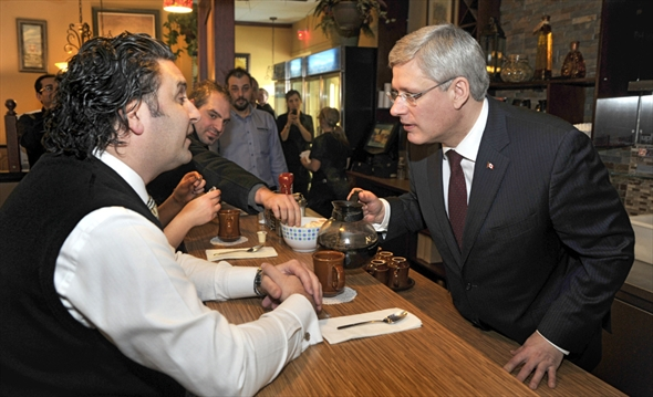 Pm Surprises Diners At Kitchener Restaurant  Therecordcom