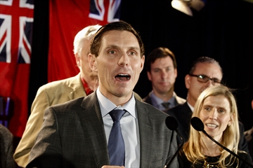 Patrick Brown kicked off his bid to reclaim leadership of the Ontario Progressive Conservative party on Sunday, Feb. 18, at the Hilton Garden Inn Toronto Airport in Mississauga.