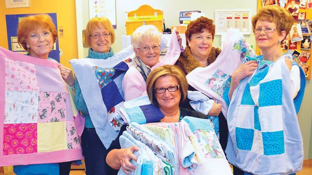 Sandy Cover quilters keep babies cozy  Simcoecom