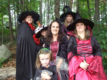 Hauntings, treasure hunts, entertainment and more are planned for the annual Coldwater Witches' Walk, taking place Oct. 18 from 6 p.m. to 9 p.m. Cheryl Smith (left), Ella Smith, Savannah Mooney, Jaclyn Schram, Hannah Benner and Jen Clark don their costumes.