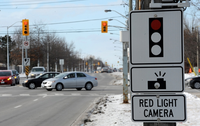 Red light cameras snapping shots of offending drivers at