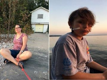 Angela Jewell (left) and her son Andre Lopez-Jewell are missing. The two were last seen in the Woodland Beach area of Tiny Township around 1 p.m. on Sunday.