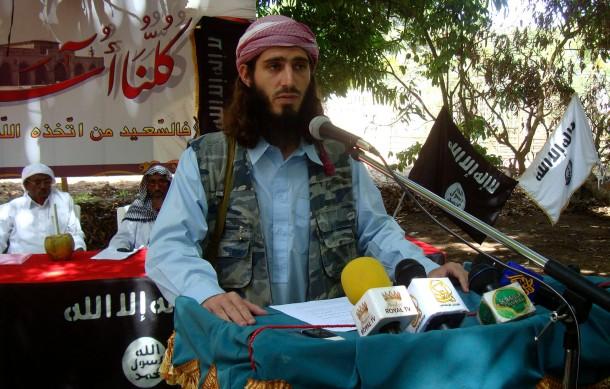 Der in Somalia kämpfende Amerikaner Omar Shafik Hammami (hier in einer Aufnahme aus dem Jahr 2011) ist offenbar von Mitgliedern seiner al Shabaab-Miliz erschossen worden.