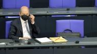 Olaf Scholz Mitte Mai im Bundestag