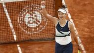 Barbora Krejcikova steht im Finale der French Open.