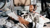 Michael Collins bei einer Übung vor der Mond-Mission