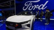 Ford bei einer Automobilausstellung in Schanghai