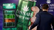 Das Trendprodukt Cannabis wird auch als Energy-Drink angeboten.