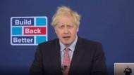 Viel Wind: Boris Johnson setzt besonders auf die eine Art der erneuerbaren Energie.