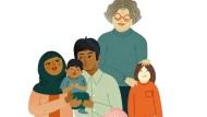 """Familiäre Vielfalt: Abbildung aus dem Buch """"Ein Baby!"""""""