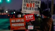 Protest gegen die Hinrichtung in Terre Haute