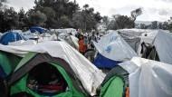 Flüchtlingslager auf der griechischen Insel Chios