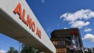 Die Aufschrift ALNO AG prangt am Haupteingang des Küchenherstellers Alno in Pfullendorf.