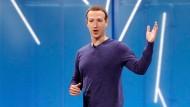 """Es werde ein """"falsches Bild"""" vom Unternehmen gezeichnet: Facebook-Chef Mark Zuckerberg"""