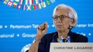 Wirbt für eine ruhige Hand: IWF-Chefin Christine Lagarde.