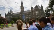 Ist die freie Diskussion an Hochschulen in Gefahr? Angehende Studenten auf dem Campus der Georgetown University in Washington