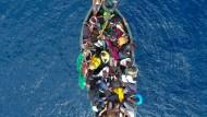 Flüchtlingsboot vor Gibraltar 2015