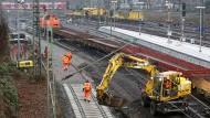 Gleisarbeiten am Hauptbahnhof in Hamburg