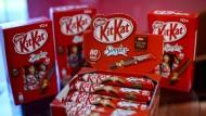 Welche Farbe Kitkat auf der Lebensmittelampel wohl bekommt? Zumindest die Verpackung ist schon rot.