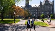 Präsenz unerwünscht? Studenten an der Georgetown University in der Hauptstadt Washington (Archivbild)
