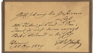 Damit wir uns daran ergötzen: Klassik Stiftung Weimar erwirbt Goethe-Autograph