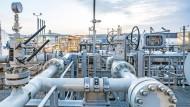 Die Anlandestation der Nord Stream 2-Pipeline in Lubmin.