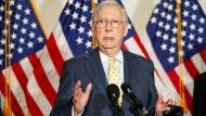 Auch im eigenen Heimatstaat Kentucky wird es knapp: Mitch McConnell
