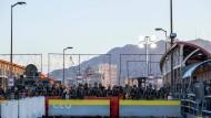 Amerikanische Zoll- und Grenzschutzbeamte am Grenzübergang in Ciudad Juárez