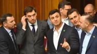 Rückzug: Oleksij Hontscharuk sagt, er wolle Druck vom Präsidenten nehmen.