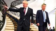 Starten gemeinsam in den Gipfel-Tag: Boris Johnson und Donald Trump