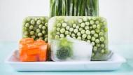 Frische auf Vorrat: Tiefgekühltes Gemüse wurde meist kurz nach der Ernte eingefroren.