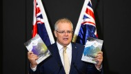 Scott Morrison spricht an der Australian Defence Force Academy in Canberra