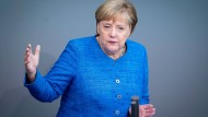 Angela Merkel (CDU) am Mittwoch im Bundestag