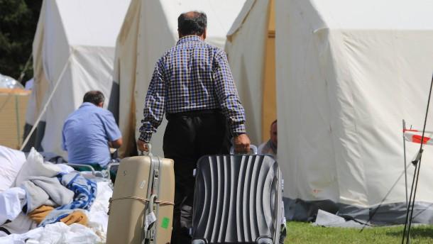 Flüchtlingsunterkünfte - Zeltstadt