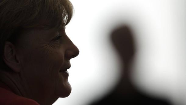 Angela Merkel Schattenbild /Gegenlicht